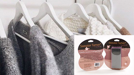 Need an easy and quick way to remove fluff and lint from clothes?