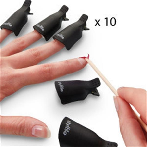 Reusable Gel Polish Remover Clips - Stylfile Nail Clips - Nail Clips ...
